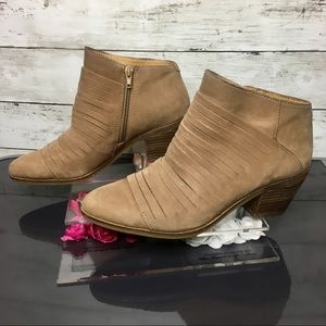 Lucky Brand Tan Leather Ankle Boot Size 8.5
